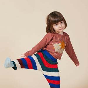 BOBO CHOSES Lucky Star Long Sleeve T-Shirt // Mahogany by BOBO CHOSES - Mini Pop Style