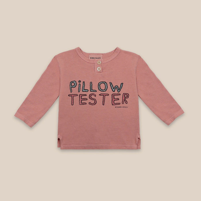 BOBO CHOSES Pillow Tester Buttoned T-Shirt by BOBO CHOSES - Mini Pop Style
