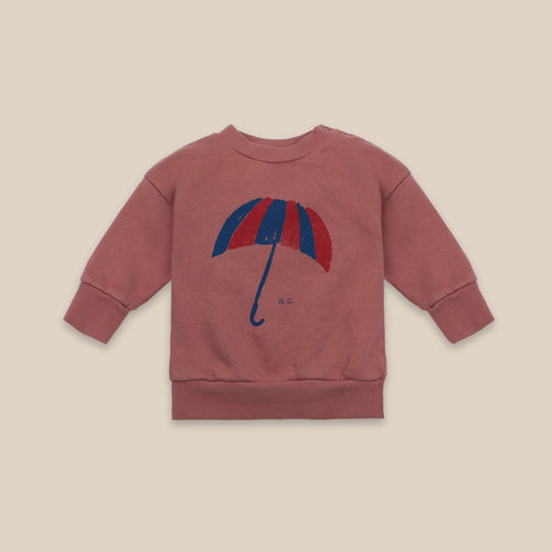BOBO CHOSES Umbrella Sweatshirt // Mahogany