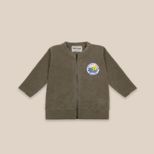 BOBO CHOSES Lucky Star Patch Zipped Sweatshirt