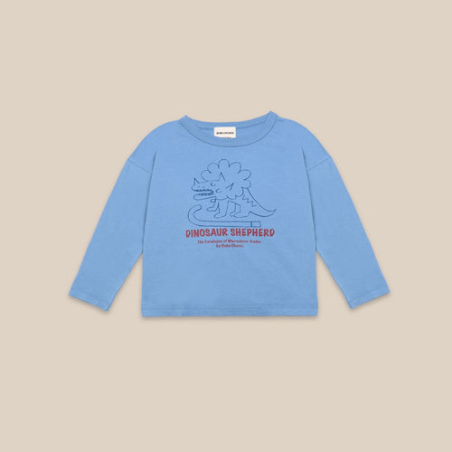 BOBO CHOSES Dino Long Sleeve T-shirt // Forever Blue