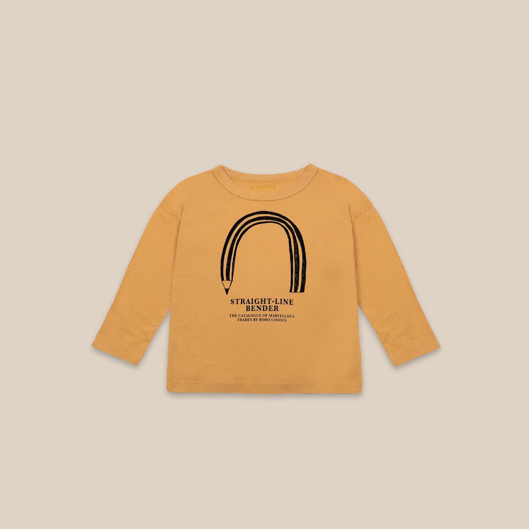 BOBO CHOSES Straight Line Bender Long Sleeve T-shirt // Sunflower