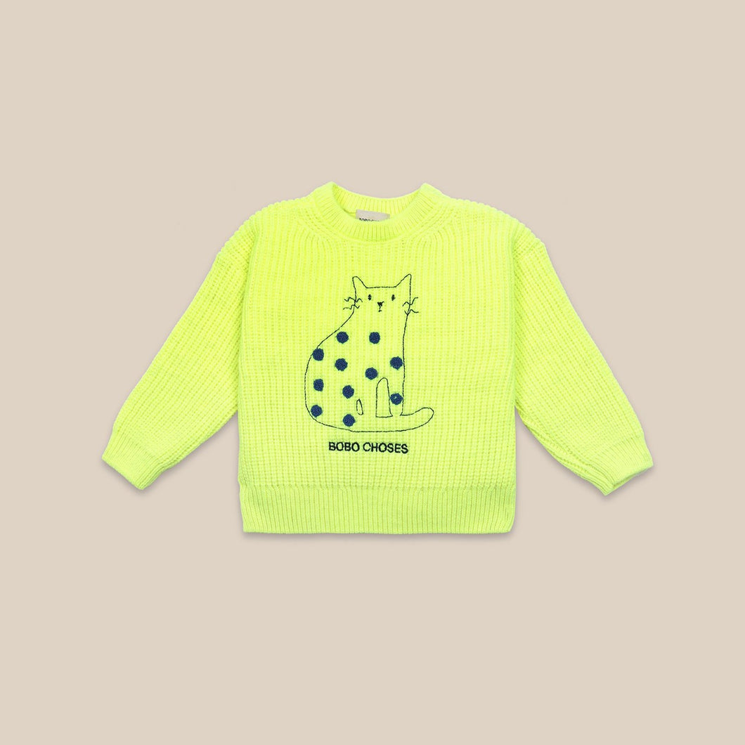BOBO CHOSES Cat Jumper // Electric Yellow