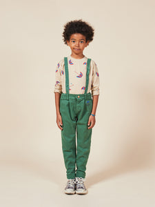 BOBO CHOSES Boy Patch Braces Pants // Greener Pastures