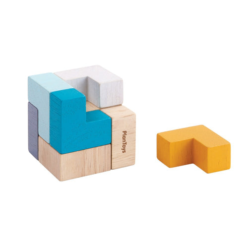 PlanToys 3d Puzzle Cube by Plan Toys - Mini Pop Style