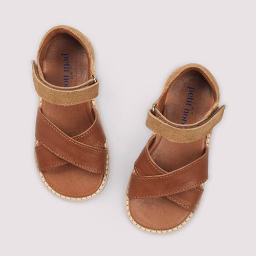 Petit Nord Crossover Sandal // Bourbon by Petit Nord - Mini Pop Style