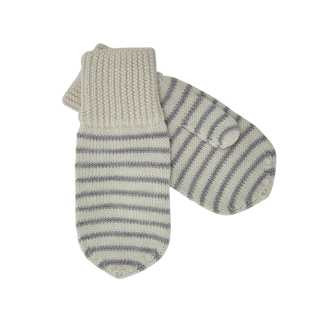 FUB Mittens // Ecru/Light Grey by FUB - Mini Pop Style