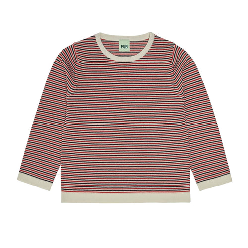 FUB Striped Blouse Wool // Ecru/Dark Navy/Bright Red