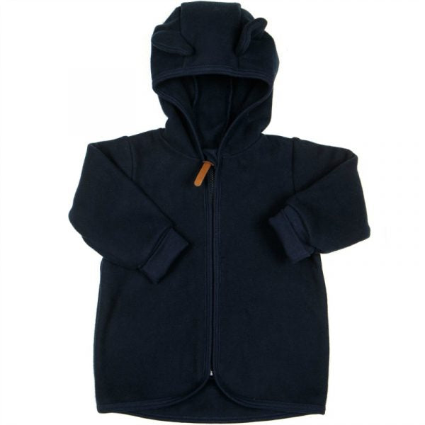 Huttelihut Jackie Baby Jacket Cotton Fleece // Navy