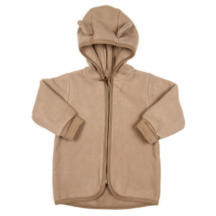Huttelihut Jackie Baby Jacket Cotton Fleece // Nougat by Huttelihut - Mini Pop Style