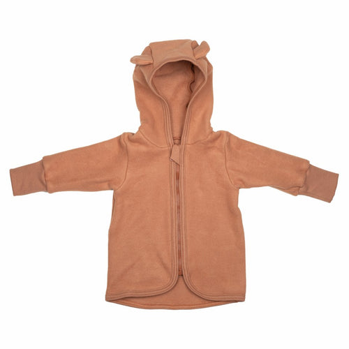 Huttelihut Jackie Baby Jacket Cotton Fleece // Terracotta by Huttelihut - Mini Pop Style