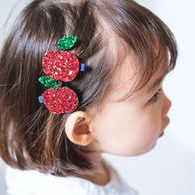 Load image into Gallery viewer, Mimi & Lula Glitter Apples Clips by Mimi & Lula - Mini Pop Style