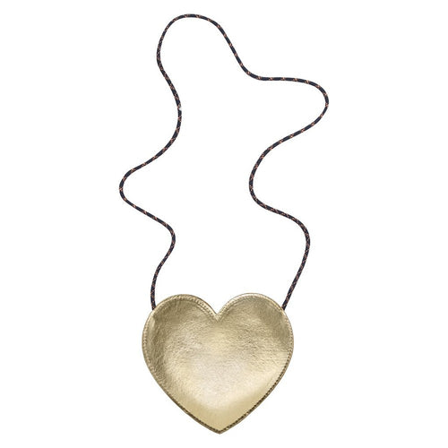 Mimi & Lula Gold heart Bag by Mimi & Lula - Mini Pop Style