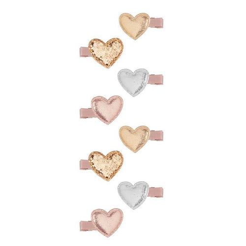 Mimi & Lula Mini Heart Clips Pink by Mimi & Lula - Mini Pop Style