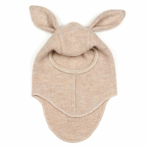 Huttelihut Bunbun Elefanthut Wool Fleece W/Rabbit Ears // Beige by Huttelihut - Mini Pop Style