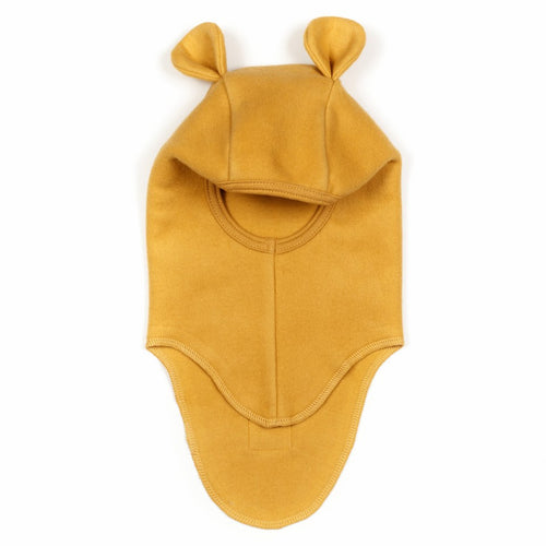Huttelihut Teddy Elefanthut Cotton Fleece W/Rabbit Ears // Mustard by Huttelihut - Mini Pop Style