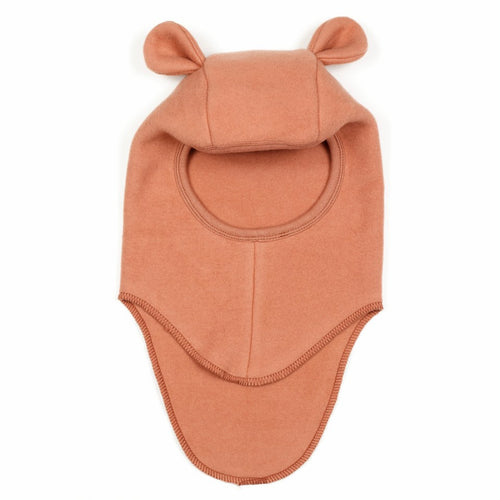 Huttelihut Teddy Elefanthut Cotton Fleece W/Rabbit Ears // Terracotta by Huttelihut - Mini Pop Style
