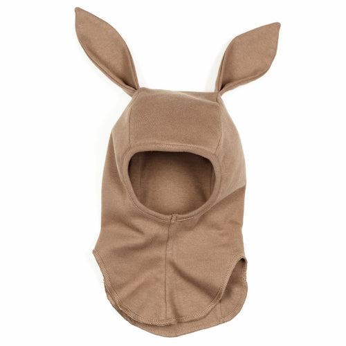 Huttelihut Babybun Elefanthut Cotton W/Rabbit Ears // Nougat by Huttelihut - Mini Pop Style