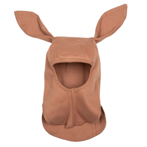 Huttelihut Babybun Elefanthut Cotton W/Rabbit Ears // Terracotta by Huttelihut - Mini Pop Style