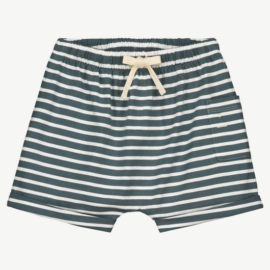 Gray Label One Pocket Shorts // Blue Gray & Stripes by Gray Label - Mini Pop Style