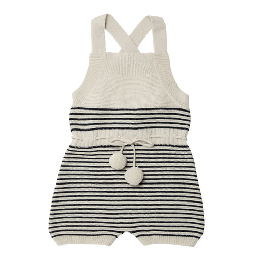 FUB Baby Overall Body Wool // Ecru/Navy - Mini Pop Style