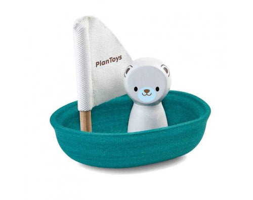 PlanToys Sailing Boat Polar Bear by Plan Toys - Mini Pop Style
