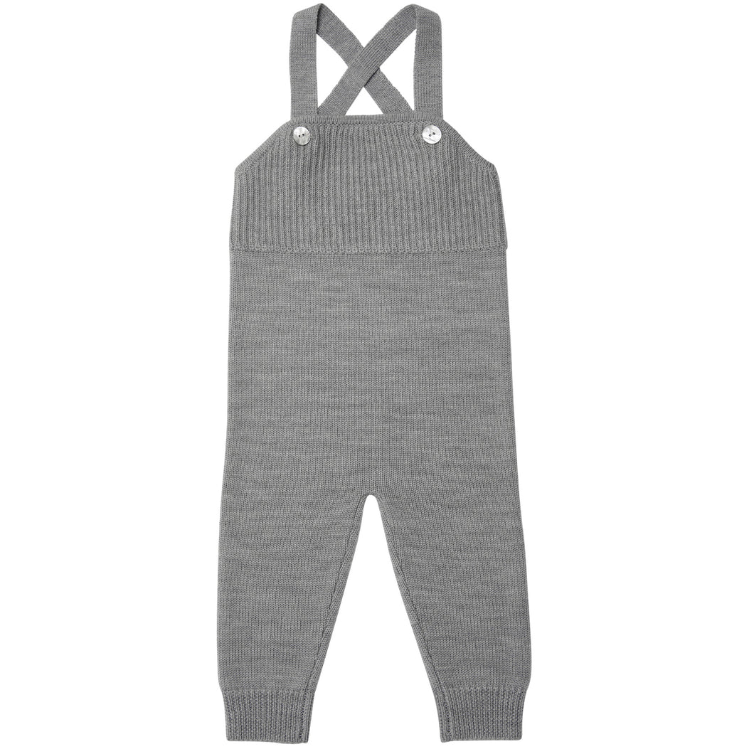 FUB Baby Overalls Wool // Light Grey by FUB - Mini Pop Style