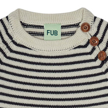 Load image into Gallery viewer, FUB Baby Sweater Wool // Ecru/Dark Navy