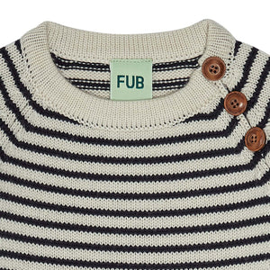 FUB Baby Sweater Wool // Ecru/Dark Navy
