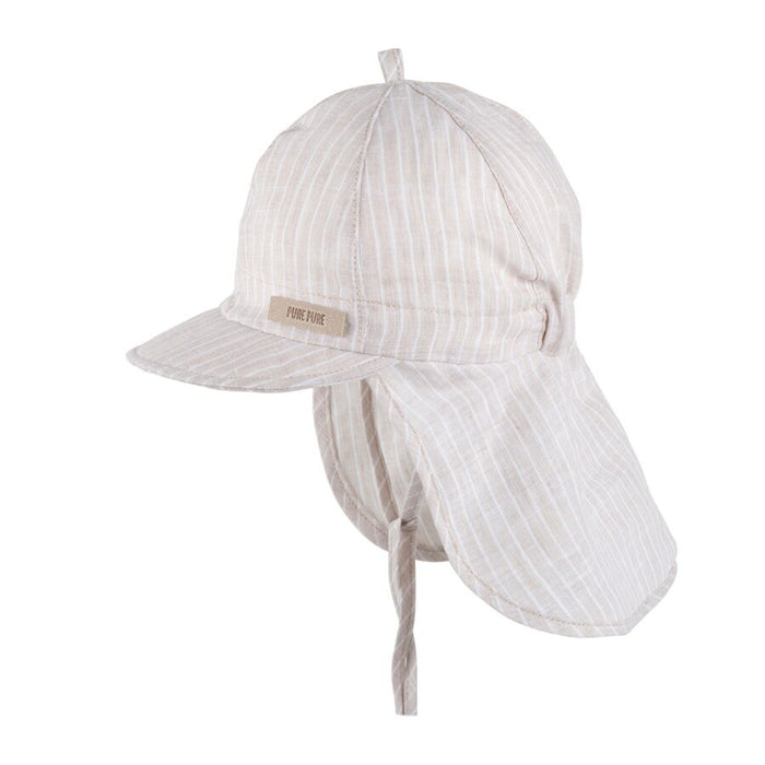 Pure Pure Linen Sun Cap // Stripes Sand by Pure Pure - Mini Pop Style