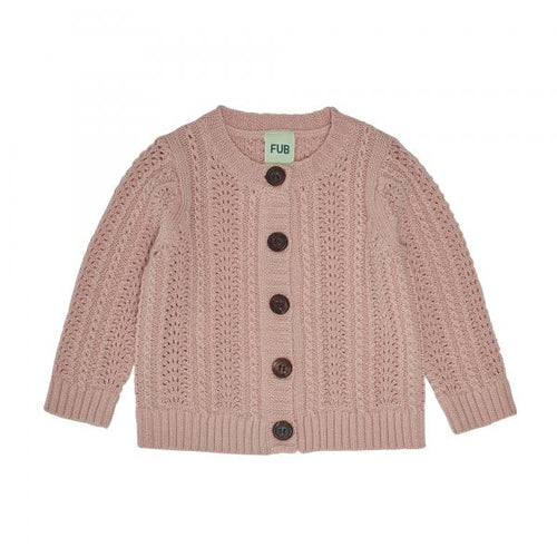 FUB Baby Lace Cardigan Wool // Pale Pink
