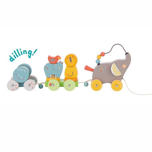 Moulin Roty Pull Along Activity Train - Mini Pop Style