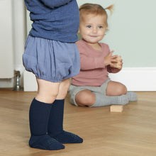 Load image into Gallery viewer, GoBabyGo Non-slip socks Bamboo // Dark Blue by GoBabyGo - Mini Pop Style
