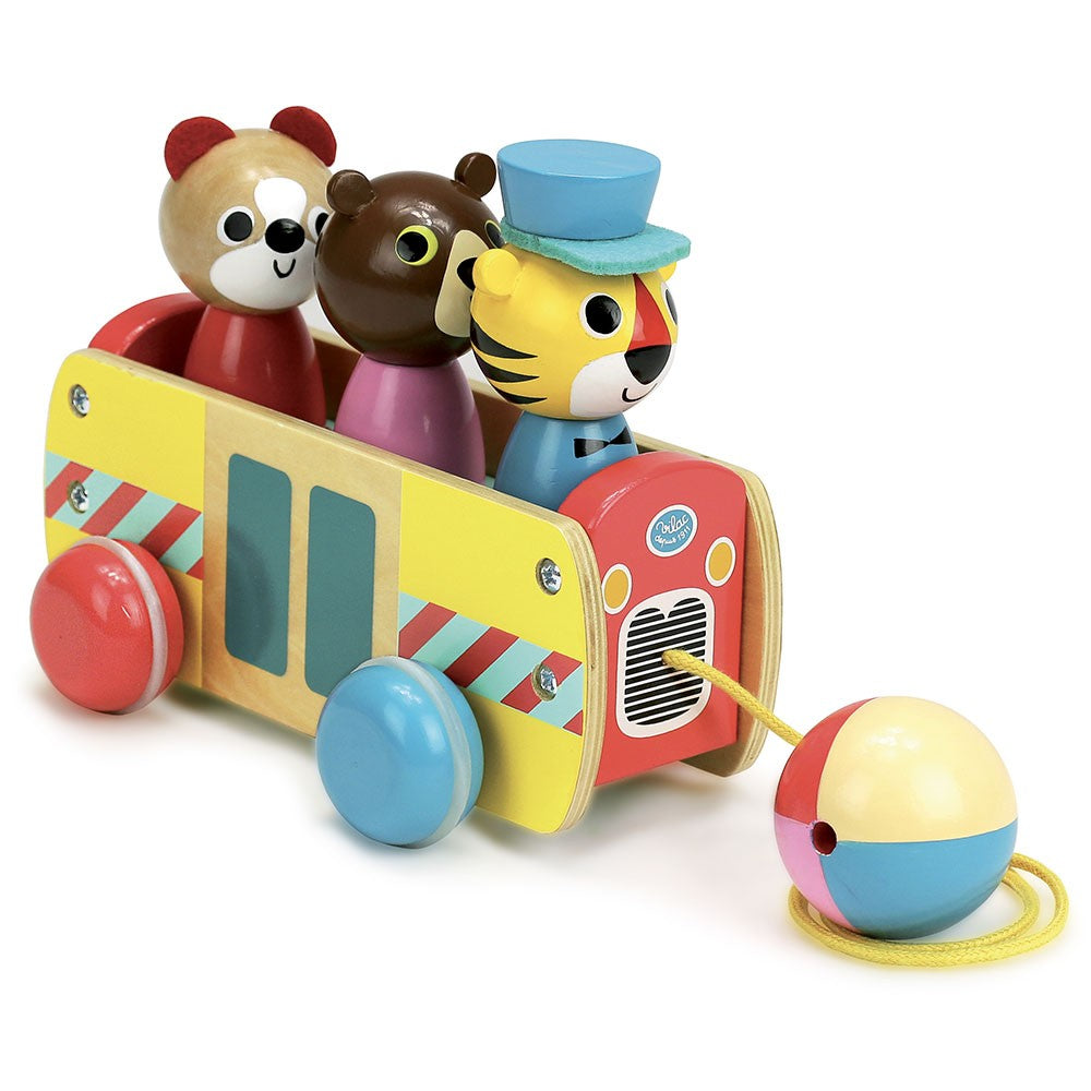 VILAC Coach Pull Toy by Vilac - Mini Pop Style