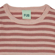 Load image into Gallery viewer, FUB Rib Blouse Wool // Coral/Pale Pink