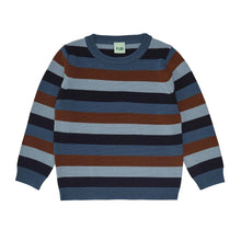 Load image into Gallery viewer, FUB Multi Striped Blouse Wool // Dark Navy/Dusty Green/Umber/Petrol