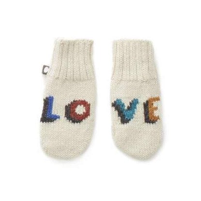 Oeuf Love Mittens // White/Multi by Oeuf - Mini Pop Style