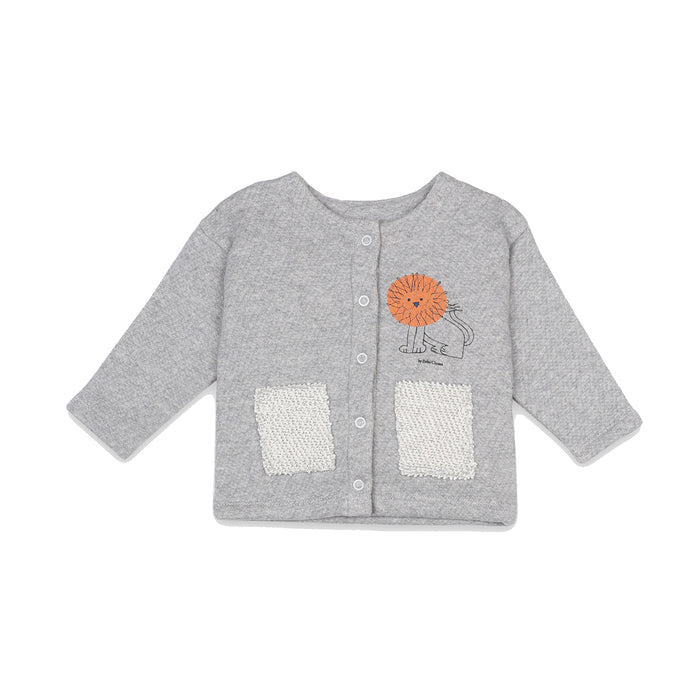 BOBO CHOSES Pet A Lion Buttoned Sweatshirt | Mini Pop Style