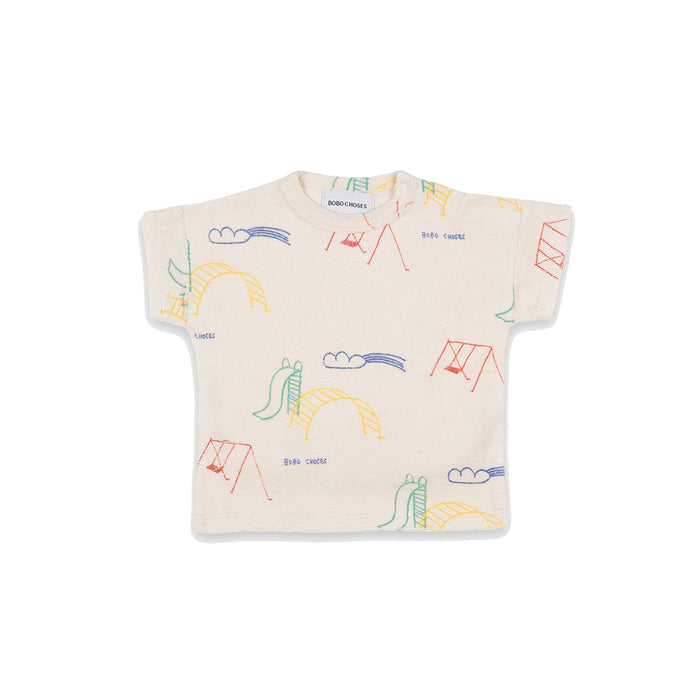 BOBO CHOSES Playground All Over Short Sleeve T-shirt | Mini Pop Style