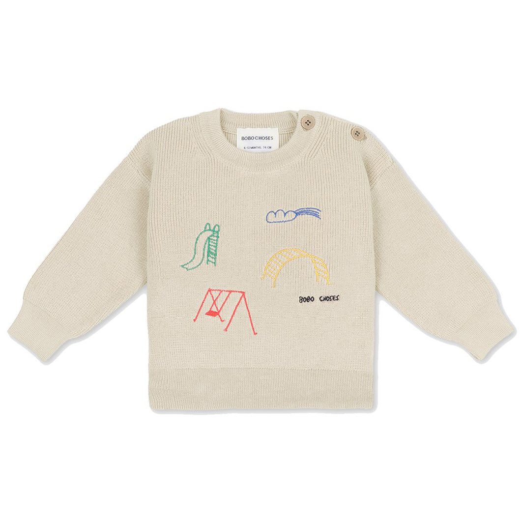 BOBO CHOSES Playground Embroidery Jumper | Mini Pop Style