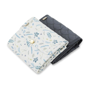Cam Cam Changing Mat Quilted // Pressed Leaves Blue by Cam Cam - Mini Pop Style