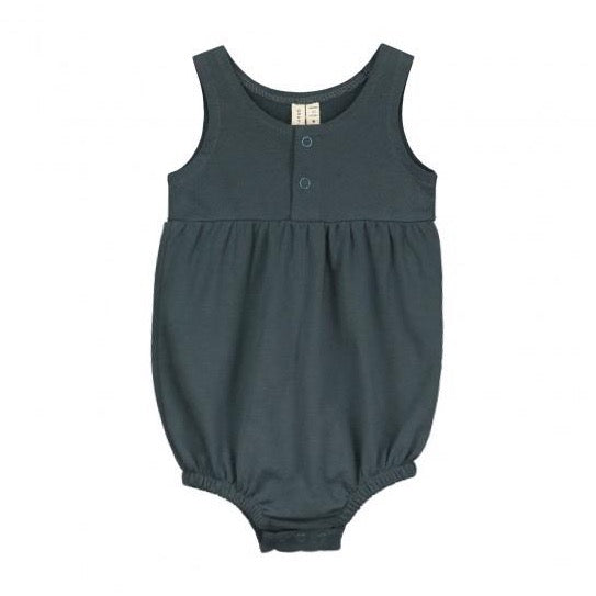 Gray Label Baby Summer Onesie // Blue Grey by Gray Label - Mini Pop Style