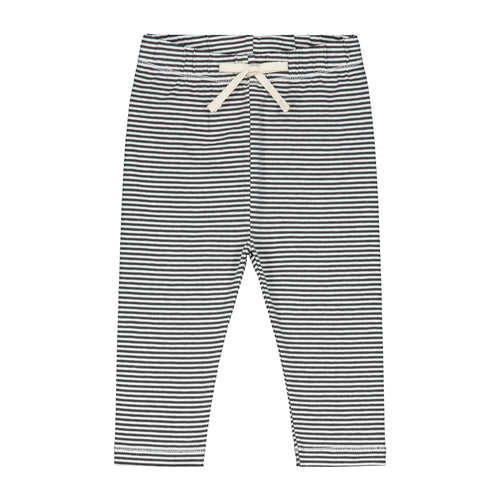 Gray Label Baby Leggings // Nearly Black & Off White Stripe by Gray Label - Mini Pop Style