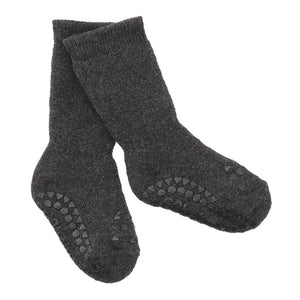 GoBabyGo Non-slip Socks // Dark Grey Melange by GoBabyGo - Mini Pop Style