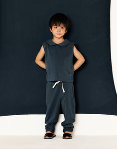 Gray Label Relaxed Jersey Pants // Nearly Black by Gray Label - Mini Pop Style