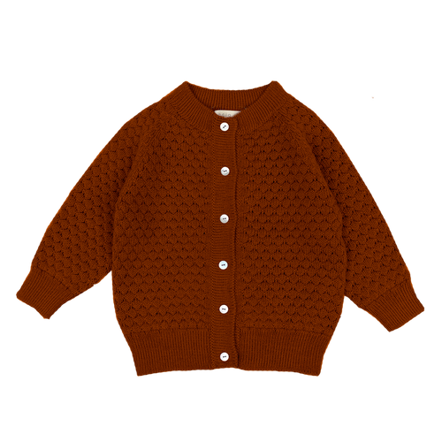 Esencia Cardigan Hanna // Brickred