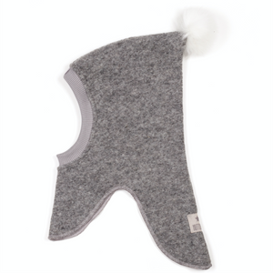 Huttelihut Elephant Huts // Light Grey/White Pompom