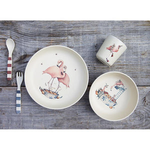 Konges Sløjd Flamingo Dinner Set