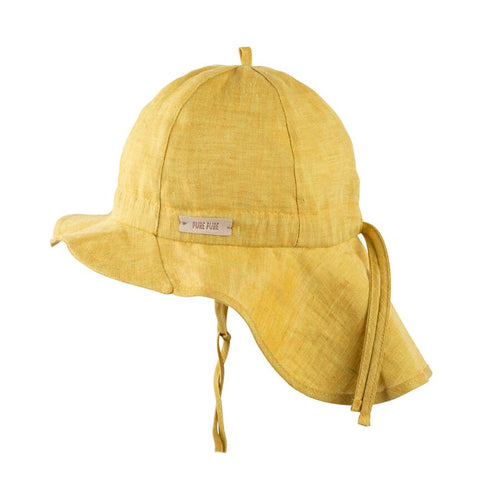 Pure Pure Linen Sun Cap // Mango by Pure Pure - Mini Pop Style