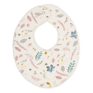Cam Cam Bib Teething Muslin Printed // Pressed Leaves Rose by Cam Cam - Mini Pop Style